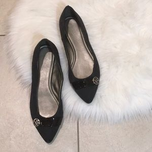 Coach Classic Fabric Pointy Flats